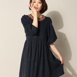 muller of yoshiokubo - wood collar dress