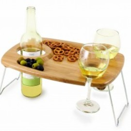 Picnic Time - Portable Wine and Snack Table