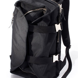 LORINZA Velours Double Strap Back Pack BLK