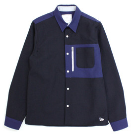 BLACK & BLUE - BLACK & BLUE × NEWERA × Lui's Zip Shirt