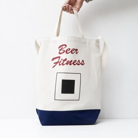 TACOMA FUJI RECORDS - Beer Fitness TOTE BAG designed by Tomoo Gokita