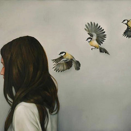 Amy Judd - CHINESE WHISPERS, Oil on canvas 71cm x 97cm