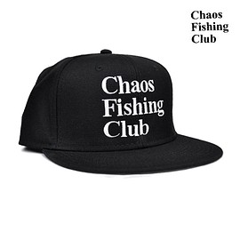 chaos fishing club - LOGO CAP black/black/white