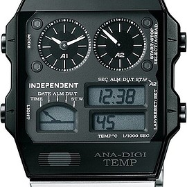 CITIZEN - INDEPENDENT ANA-DIGI TEMP BN1-046-53