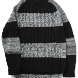 bal - Dack Tale Allan Crew Sweater (grey stripe)