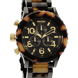 NIXON - The 42-20 Chrono in All Black / Tortoise