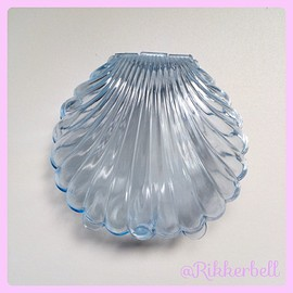plamode - Shell Plastic Candy Box L Blue