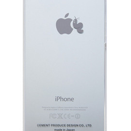 """CEMENT PRODUCE DESIGN, iTattoo - """"Larva Loves Apple"""" for iPhone5/5s White & Silver"""