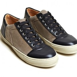 DRIS VAN NOTEN - dries-van-noten-2012-spring-summer-canvas-vinyl-panel-shoe-0