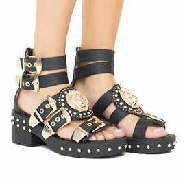 JEFFREY CAMPBELL - Mynt Medallion buckle boots