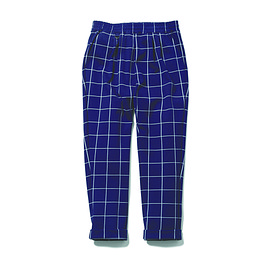 uniform experiment - WINDOW PANE 4 TUCK ANKLE CUT EASY PANT/navy