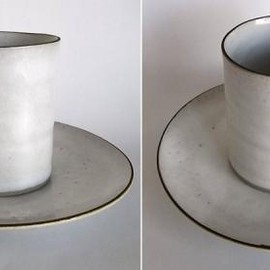 Lucie Rie - Coffee Cup&Saucer /White