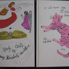 Andy Warhol - 「25 Cats Name Sam and One Blue Pussy by Andy Warhol」「Holy Cats by Andy Warhol's Mother」の2冊組