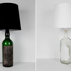Maison Martin Margiela 13 - Bottle Lamp Black&White