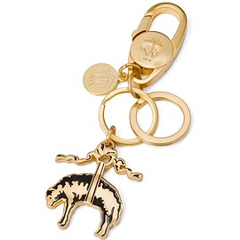 BLACK FLEECE BY Brooks Brothers - BLACK FLEECE Gold Key Ring with Enamel Fleece