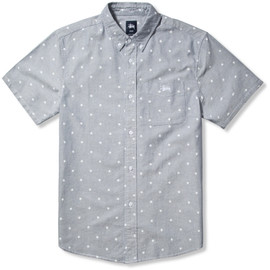 Stussy - Dark Grey Stars Oxford Shirt
