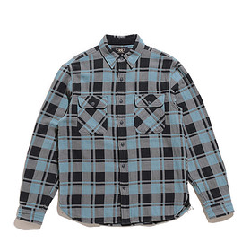 RRL - Plaid Jacquard Workshirt-Turquoise×Sulphur
