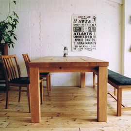 TRUCK FURNITURE - OAK TABLE