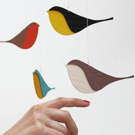 snug. - Image of snug.songbirds -wooden mobile