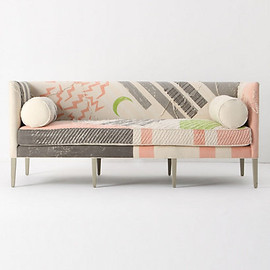Anthropologie - Ditte Sofa, Fred Shand Pink