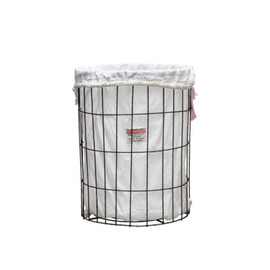 PUEBCO - WIRE BASKET WITH LAUNDRY BAG Round