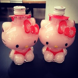 Hello Kitty Ice cream strawberry syrup.