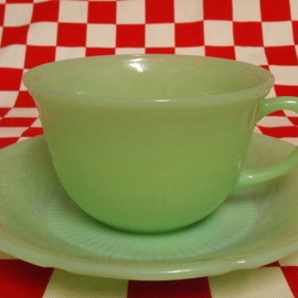 Jadeite Magic Gallery - FIRE KING Jadeite Alice Cup & Saucer  #11