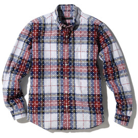 SOPHNET. - L/S DOT PATTERN CHECK B.D SHIRT
