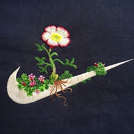 James Merry - Flowery Embroideries Stitched on Classic Sportswear Logo