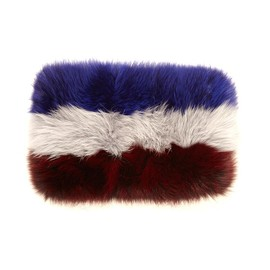 MARNI - Tri-colour fox-fur snood