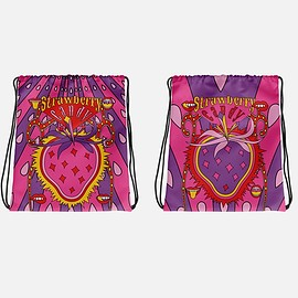 Oh Good Goods - ADD TO CART  SAVE FOR LATER EMBED 【Crazy Strawberry Candy Candy 】Drawstring Bag