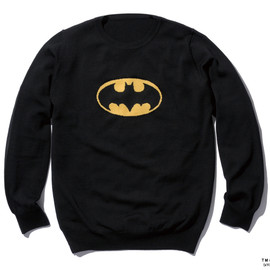 SOPHNET. - BATMAN CREW NECK KNIT