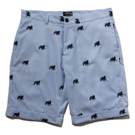 STUSSY - Preppy Lion Emb. Short