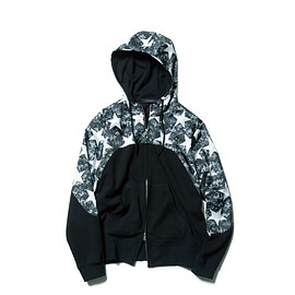 SOPHNET. - ACRYLIC WOOL JERSEY CHEST PANEL HOODY