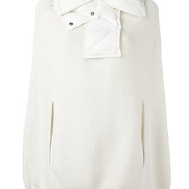 Moncler - padded collar knitted cape