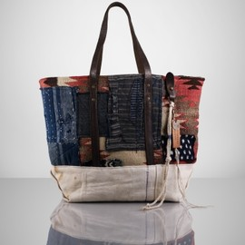 Ralph Lauren  - Patched Blanket Canvas Tote