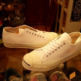 """converse - 「<deadstock>90's converse JACKPURCELL OX white""""made in USA"""" size:US8/h(27cm) 12800yen」完売"""