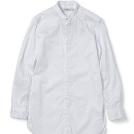 nonnative - DOCTOR LONG SHIRT - COTTON SATIN