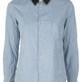 COMME des GARCONS - blue cotton shirt