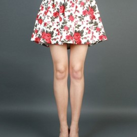 MSGM - 2013/AW ■SHORT PLEATED SKIRT WITH MULTICOLORED PRINT