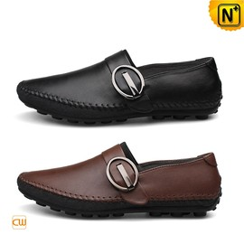 CWMALLS - Mens Leather Gommino Driving Shoes Slippers CW740379