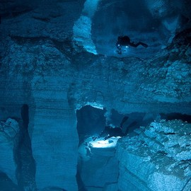 Russia - underwater caves