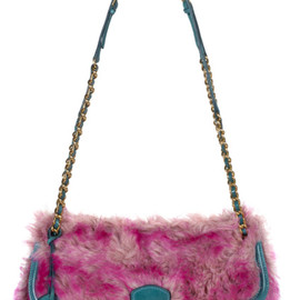 miu miu - Pink fur and leather shoulder bag