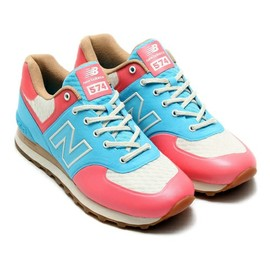 "New Balance - atmos exclusive New Balance ML574""CLARITY"" ピンク"