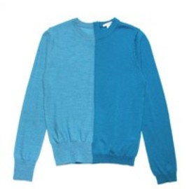 CARVEN - 2-TONE KNIT TURQUOISE