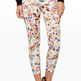 Jeremy scott -  Silk Leggings Pill Print 1
