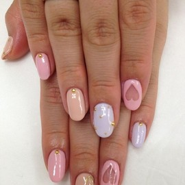 nails - Sorbet color nail