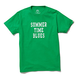 HEAD PORTER PLUS, FRUIT OF THE LOOM - SUMMER TIME BLUES TEE GREEN
