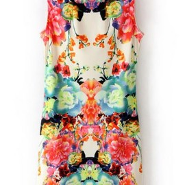 SheInside - Multi Sleeveless Floral Bodycon Dress pictures