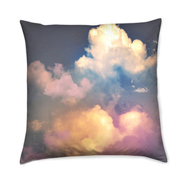csera surface design - Home Decor Accent Cushion Pillow - Pastel Clouds Vintage Style Photography by the surface designer